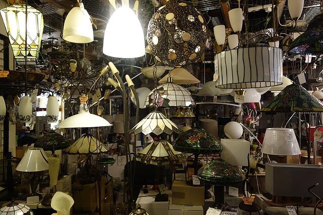 obchod vitrína světla